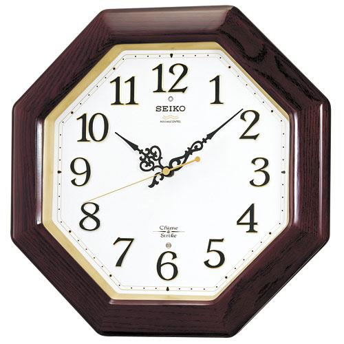 セイコー掛け時計 報時掛け時計 SEIKO電波時計 RX210B SEIKO掛け時計 【楽ギフ_のし】【楽ギフ_メッセ入力】【楽ギフ_名入れ】