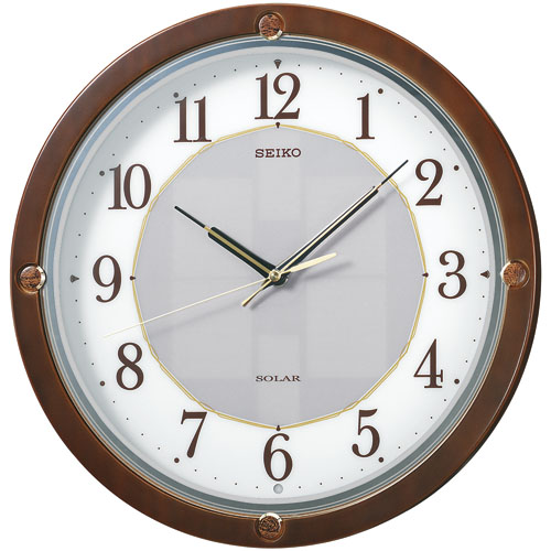 SEIKO掛け時計セイコー掛け時計 ソーラークロック  ソーラープラスです! SEIKO電波時計 SF232B  【楽ギフ_のし】【楽ギフ_メッセ入力】【楽ギフ_名入れ】