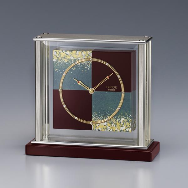 金沢箔の伝統技法と時計職人の技が生む和モダンの美!セイコー置時計 SEIKO DECOR AZ750R 【楽ギフ_のし】【楽ギフ_メッセ入力】【楽ギフ_名入れ】