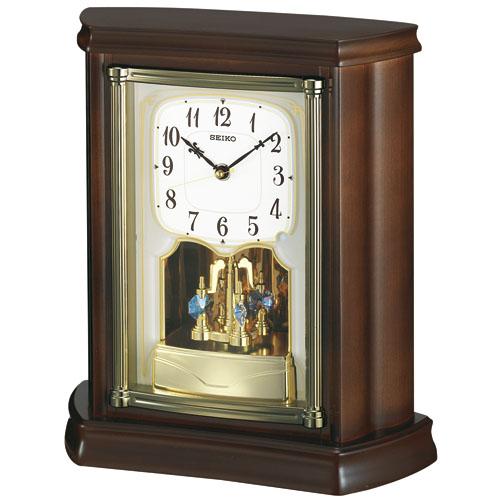 重厚感ある置時計! セイコースタンダード置時計 SEIKO置き時計 BY233B  【楽ギフ_のし】【楽ギフ_メッセ入力】【楽ギフ_名入れ】