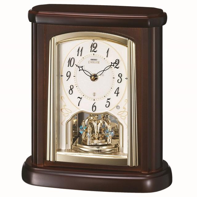 セイコー置時計エンブレム  SEIKO電波置き時計 HW582B【楽ギフ_のし】【楽ギフ_メッセ入力】【楽ギフ_名入れ】