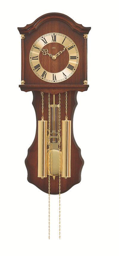 ウッドフレームの機械式が魅力 アームスAMS振り子時計 機械式 211-1 AMS掛け時計 ウォルナット