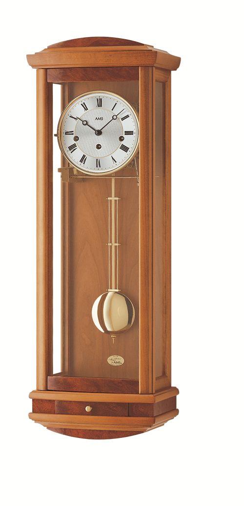 チェリーウッド仕上げが美しい! AMSアームス機械式振り子時計 2607-9 報時時計