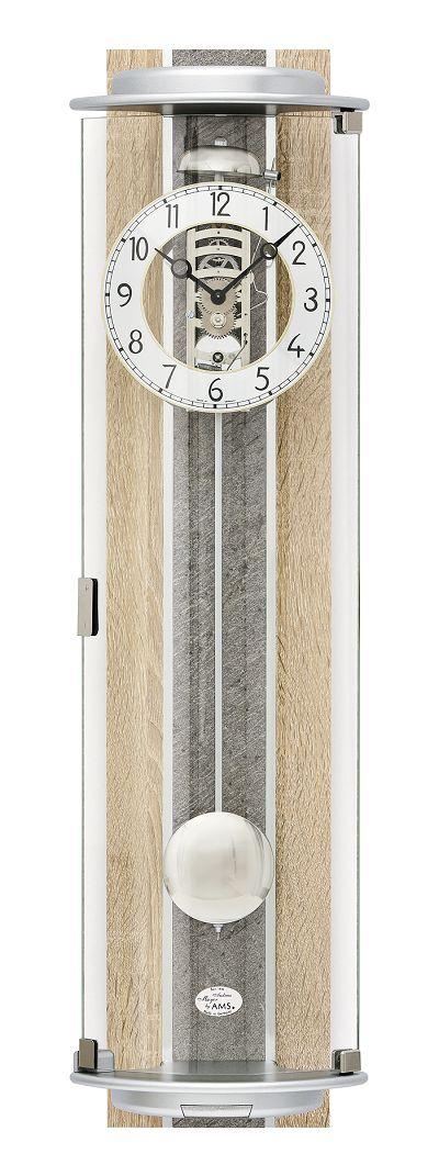 ナチュラルデザインがお洒落です! AMSアームス機械式振り子時計 報時 2715 AMS振り子時計