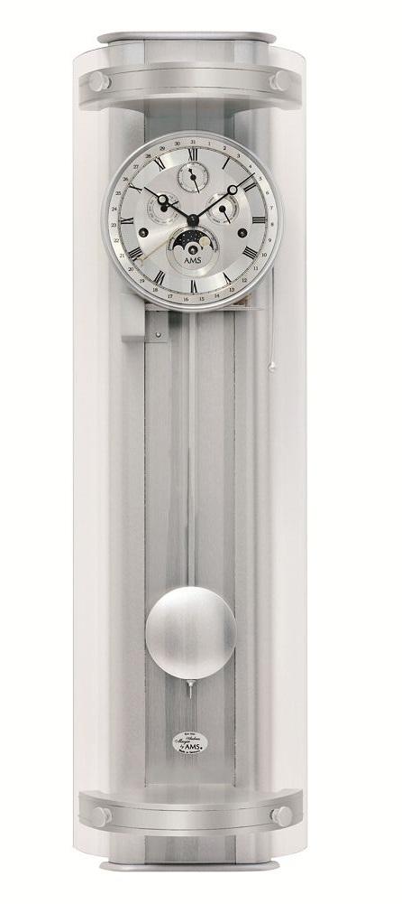 モダンデザインがお洒落です! AMSアームス機械式振り子時計 報時 3633 AMS振り子時計 ムーンフェイズ