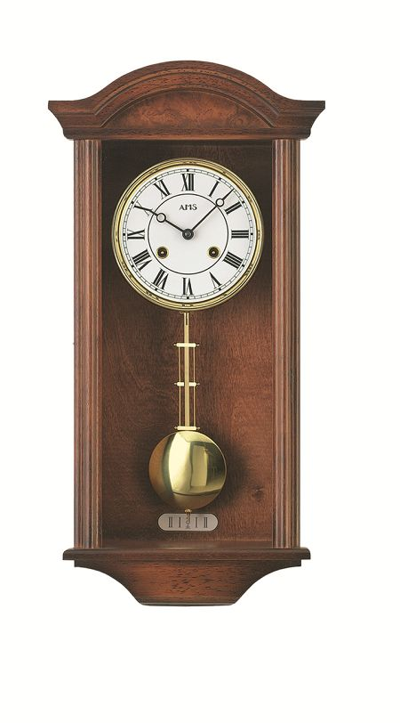AMSアームス振り子時計 機械式 報時時計 614-1 ドイツ製 AMS掛け時計 アームス掛け時計