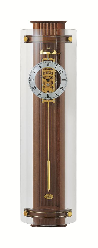 天然木が美しい AMSアームス機械式振り子時計 633-1 ウォルナット AMS振り子時計