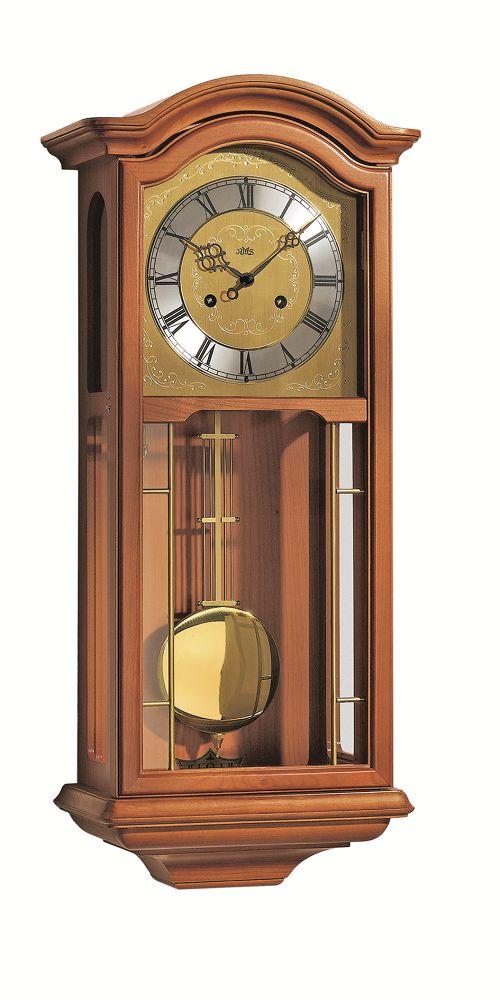 チェリーウッド仕上げが美しい! AMSアームス振り子時計 機械式 651-9 AMS掛け時計 報時時計