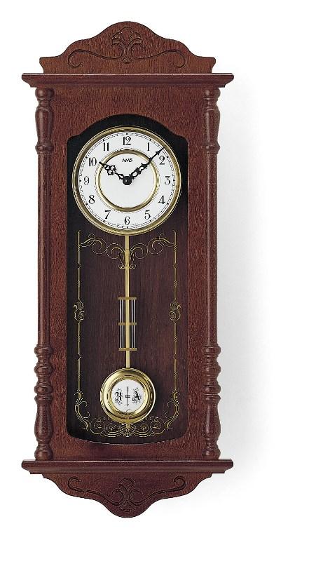 AMSアームス振り子時計 報時時計 ウエストミンスターチャイム 7013-1 ドイツ製 AMS掛け時計 アームス掛け時計