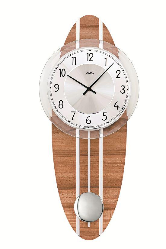 シンプルデザインがお洒落です! AMSアームス振り子時計 7419 AMS振り子時計