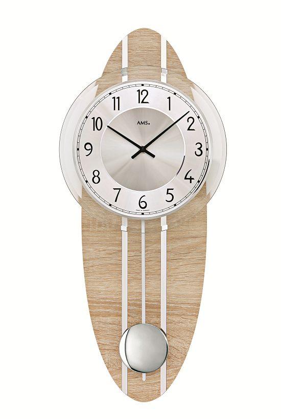 シンプルデザインがお洒落です! AMSアームス振り子時計 7420 AMS振り子時計