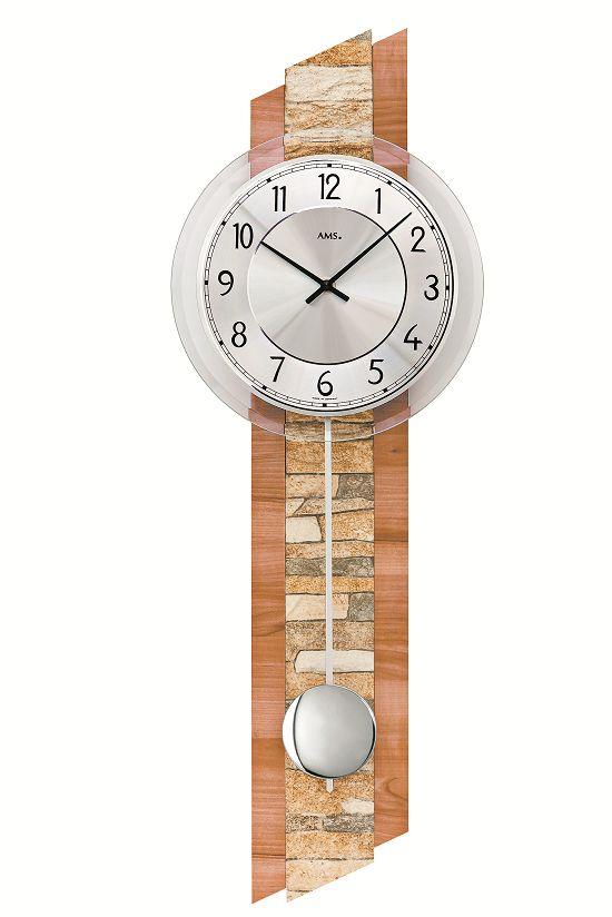 ナチュラルデザインがお洒落です! AMSアームス振り子時計 7424 AMS振り子時計
