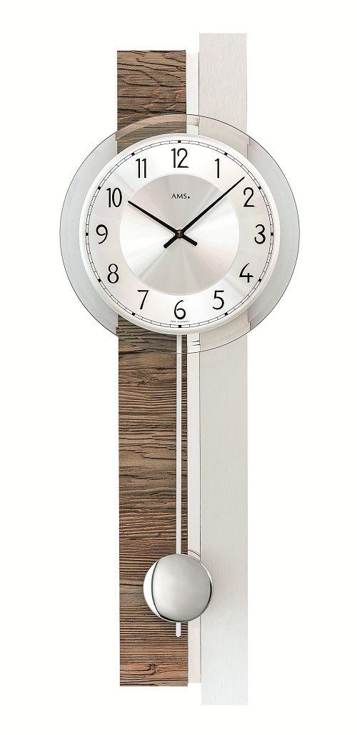 斬新デザインが目を引きます! AMS(アームス)振り子時計 7438 AMS振り子時計