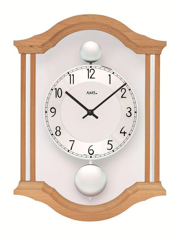 斬新デザインが目を引きます! AMS(アームス)振り子時計 7447-18 AMS振り子時計