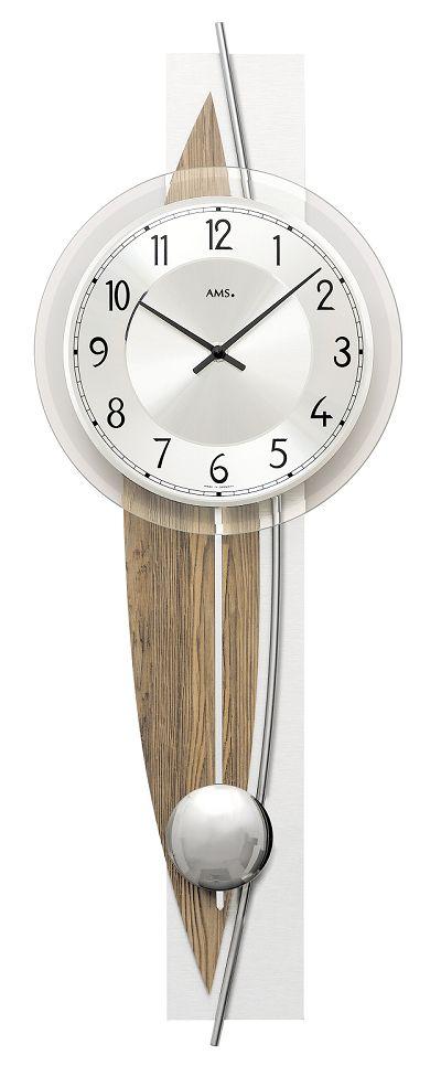斬新デザインが目を引きます! AMS(アームス)振り子時計 7452 AMS振り子時計
