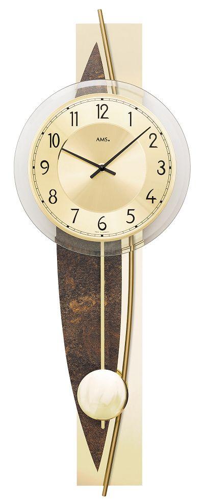 斬新デザインが目を引きます! AMS(アームス)振り子時計 7453 AMS振り子時計