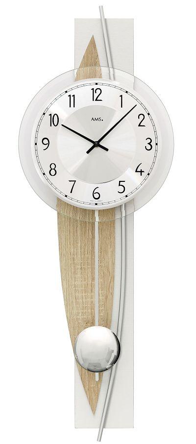 斬新デザインが目を引きます! AMS(アームス)振り子時計 7455 AMS振り子時計