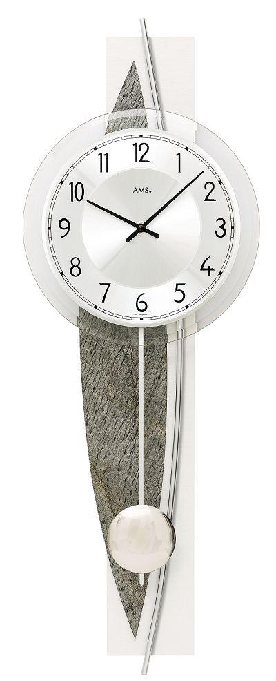 斬新デザインが目を引きます! AMS(アームス)振り子時計 7456 AMS振り子時計
