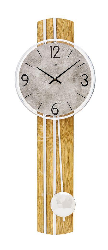 AMSアームス振り子時計 7466 ドイツ製 AMS掛け時計 アームス掛け時計 天然木