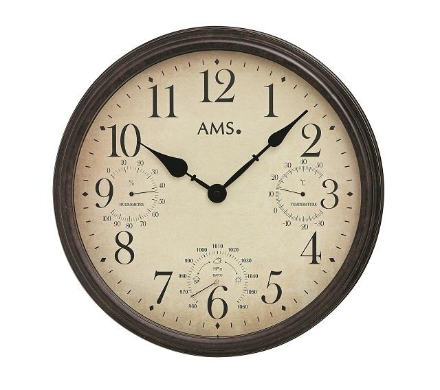 AMSアームス掛け時計 ドイツ 9463 温度計 湿度計 気圧計【送料無料】 【楽ギフ_のし】【楽ギフ_メッセ入力】【楽ギフ_名入れ】