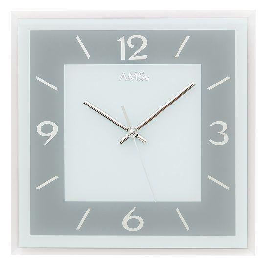 シンプルなデザインが魅力! AMS壁掛け時計 アームス掛け時計 スクエア AMS9573【送料無料】 【楽ギフ_のし】【楽ギフ_メッセ入力】【楽ギフ_名入れ】