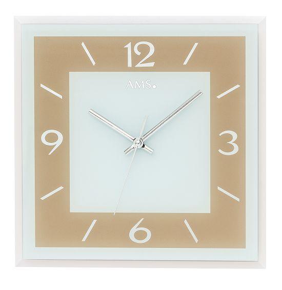 シンプルなデザインが魅力! AMS壁掛け時計 アームス掛け時計 スクエア AMS9574 【送料無料】 【楽ギフ_のし】【楽ギフ_メッセ入力】【楽ギフ_名入れ】