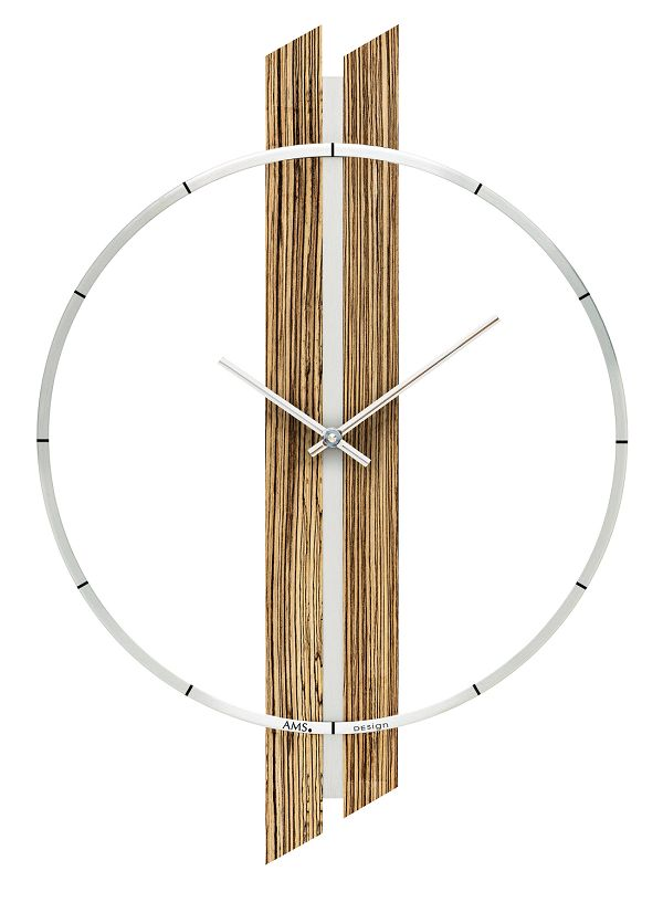 お洒落なAMSアームス掛け時計 ドイツ製 9606 AMS時計 【楽ギフ_のし】【楽ギフ_メッセ入力】【楽ギフ_名入れ】