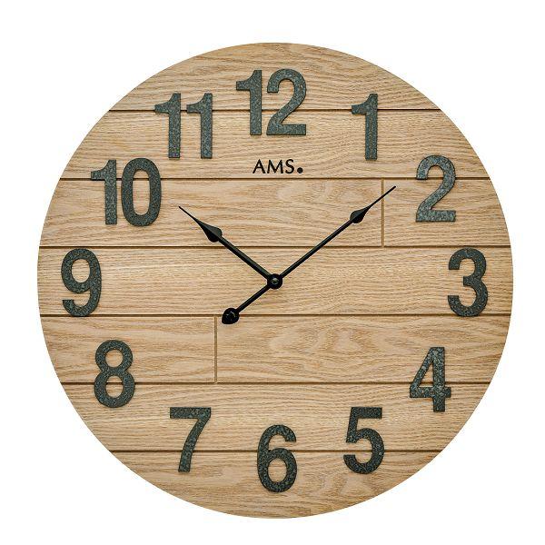 お洒落なデザインです! AMS掛け時計 アームス壁掛け時計 AMS9617 ウッド文字盤【送料無料】 【楽ギフ_のし】【楽ギフ_メッセ入力】【楽ギフ_名入れ】