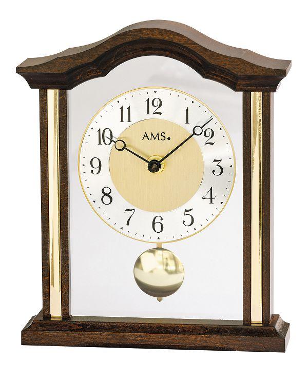 木製フレームが美しい!AMS振り子置き時計 1174-1 ウォルナット AMS置き時計