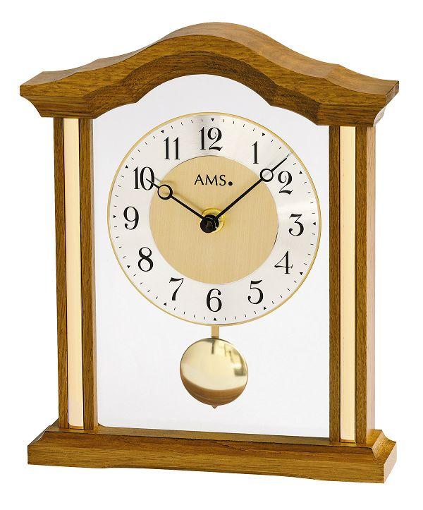 木製フレームが美しい!AMS振り子置き時計 1174-4 オーク AMS置き時計
