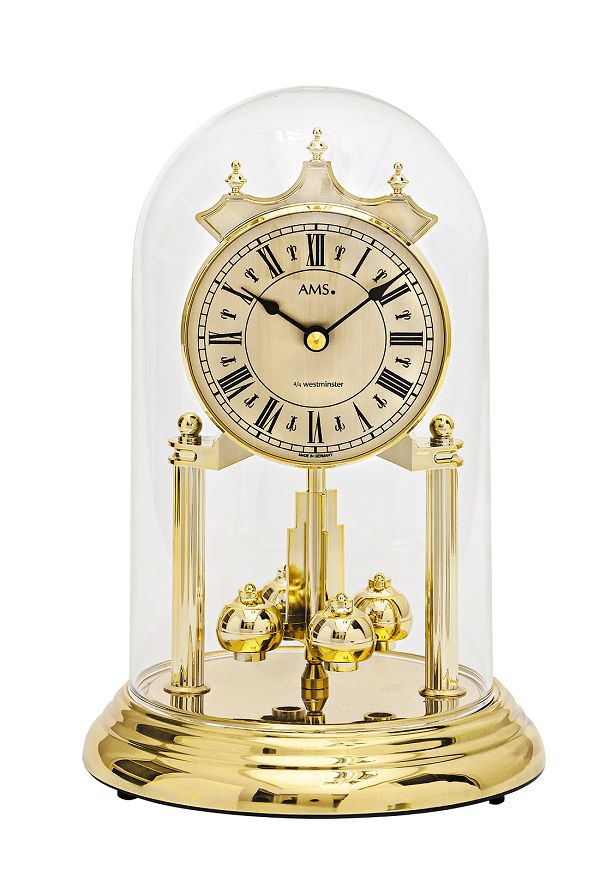 AMSアームス報時置き時計 アニバーサリークロック 回転振り子  ドイツ ams1204 AMS置時計