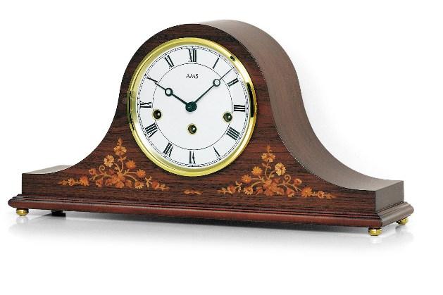 AMS置き時計  報時  2188-1 アームス置時計 機械式 木象嵌