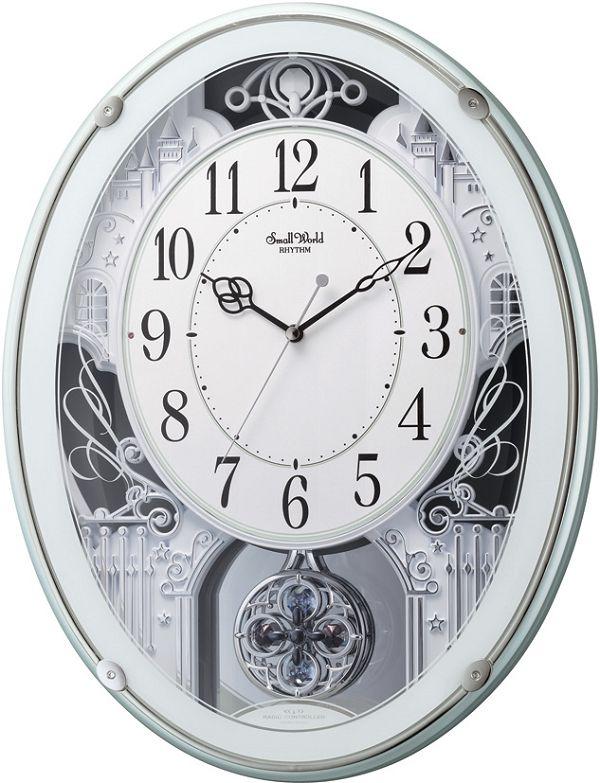 アミュージングクロック電波時計 からくり時計 スモールワールドプラウド 4MN523RH05 リズム時計【楽ギフ_のし】【楽ギフ_メッセ入力】【楽ギフ_名入れ】