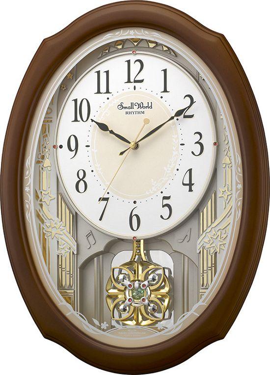 アミュージング振り子時計 からくり時計 スモールワールドセレブレ 4MN541RH06 リズム時計【楽ギフ_のし】【楽ギフ_メッセ入力】【楽ギフ_名入れ】