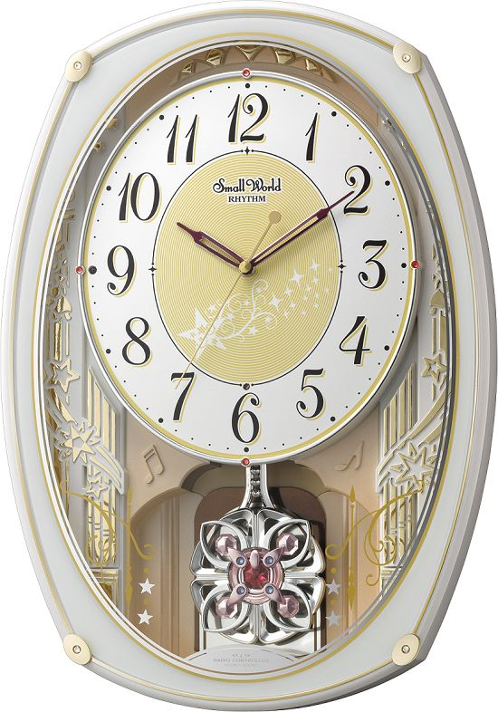 アミュージング振り子時計 からくり時計 スモールワールドステラ 4MN542RH03 リズム時計【楽ギフ_のし】【楽ギフ_メッセ入力】【楽ギフ_名入れ】