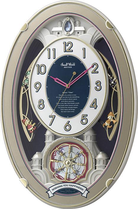 【からくり時計、壁掛け時計】アミュージングクロック スモールワールド ウィッシュ 4MN544RH18 リズム時計 名入れ【楽ギフ_のし】【楽ギフ_メッセ入力】【楽ギフ_名入れ】
