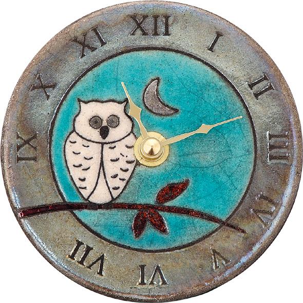 陶器の温かさとイタリアンアートに溢れる魅力! アントニオ・ザッカレラ陶器置き掛け兼用時計ZC147-A04