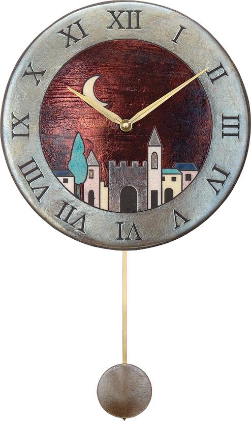 アントニオ・ザッカレラ陶器振り子時計ZC152-001 名入れ ANTONIO ZACCARELLA【楽ギフ_のし】【楽ギフ_メッセ入力】