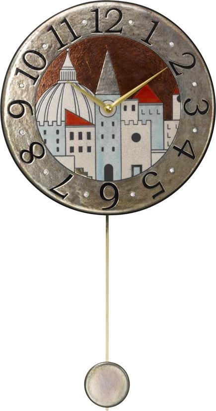 アントニオ・ザッカレラ陶器振り子時計ZC900-001 掛け時計 名入れ ANTONIO ZACCARELLA【楽ギフ_のし】【楽ギフ_メッセ入力】