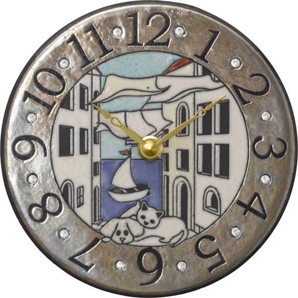 アントニオ・ザッカレラ陶器 置き掛け兼用時計 ZC904-004 名入れ ANTONIO ZACCARELLA【楽ギフ_のし】【楽ギフ_メッセ入力】