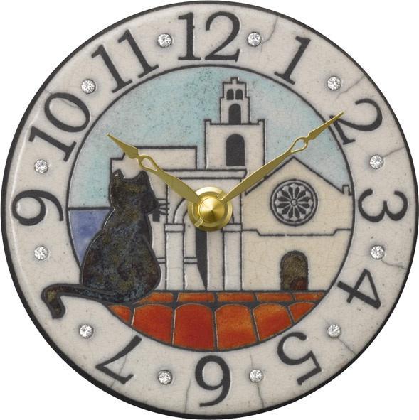 アントニオ・ザッカレラ陶器 置き掛け兼用時計 ZC906-003【楽ギフ_のし】【楽ギフ_メッセ入力】【楽ギフ_名入れ】