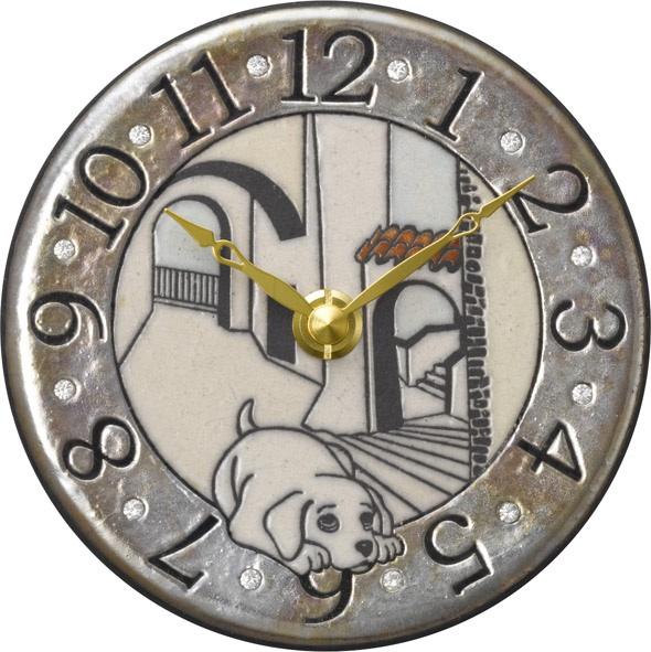 アントニオ・ザッカレラ陶器 置き掛け兼用時計 ZC907-003【楽ギフ_のし】【楽ギフ_メッセ入力】【楽ギフ_名入れ】