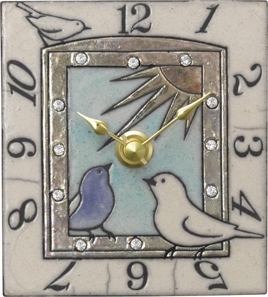 アントニオ・ザッカレラ陶器 置き掛け兼用時計 ZC909-004【楽ギフ_のし】【楽ギフ_メッセ入力】【楽ギフ_名入れ】