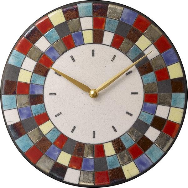 陶器の温かさとイタリアンアートに溢れる魅力! アントニオ・ザッカレラ Antonio Zaccarella 陶器 掛け時計ZC913-003 名入れ【楽ギフ_のし】【楽ギフ_メッセ入力】