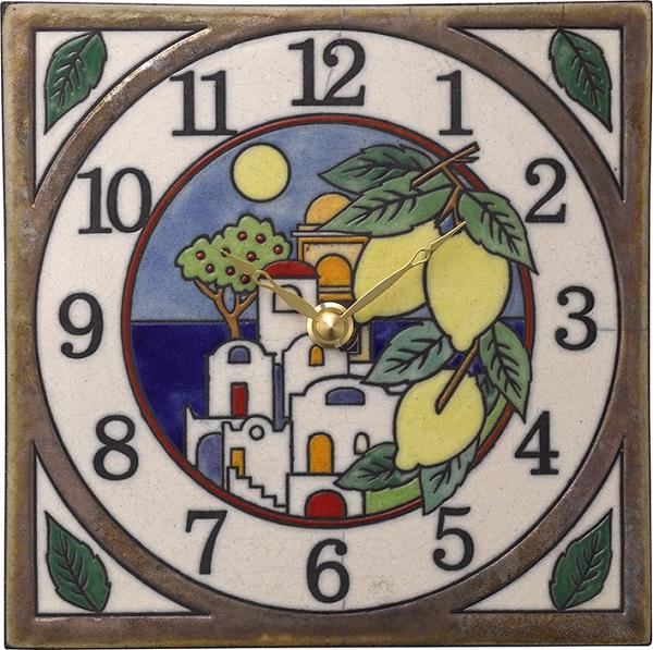陶器の温かさとイタリアンアートに溢れる魅力! アントニオ・ザッカレラ陶器 置き掛け兼用時計 ZC914-003 名入れ【楽ギフ_のし】【楽ギフ_メッセ入力】