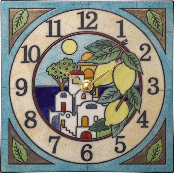 陶器の温かさとイタリアンアートに溢れる魅力! アントニオ・ザッカレラ陶器 置き掛け兼用時計 ZC915-004 名入れ【楽ギフ_のし】【楽ギフ_メッセ入力】