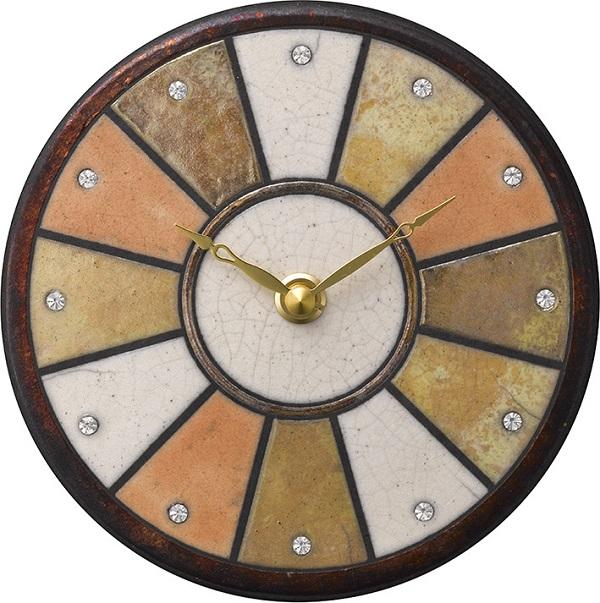 陶器の温かさとイタリアンアートに溢れる魅力! アントニオ・ザッカレラ陶器 置き掛け兼用時計 ZC919-014 名入れ【楽ギフ_のし】【楽ギフ_メッセ入力】