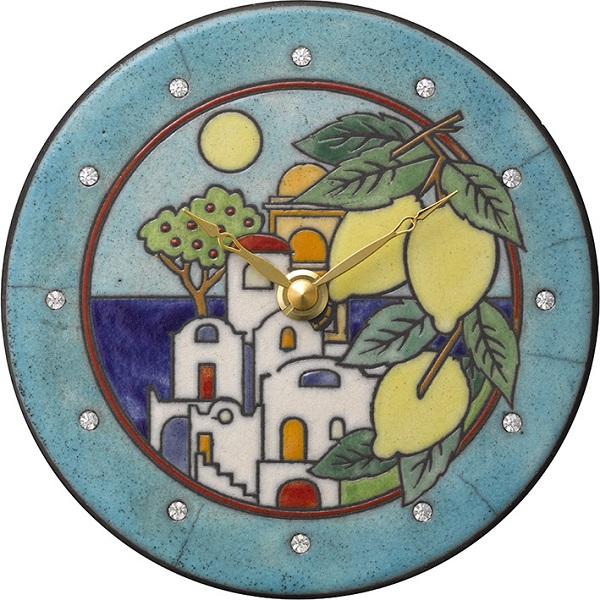 陶器の温かさとイタリアンアートに溢れる魅力! アントニオ・ザッカレラ陶器 置き掛け兼用時計 ZC920-004 名入れ【楽ギフ_のし】【楽ギフ_メッセ入力】
