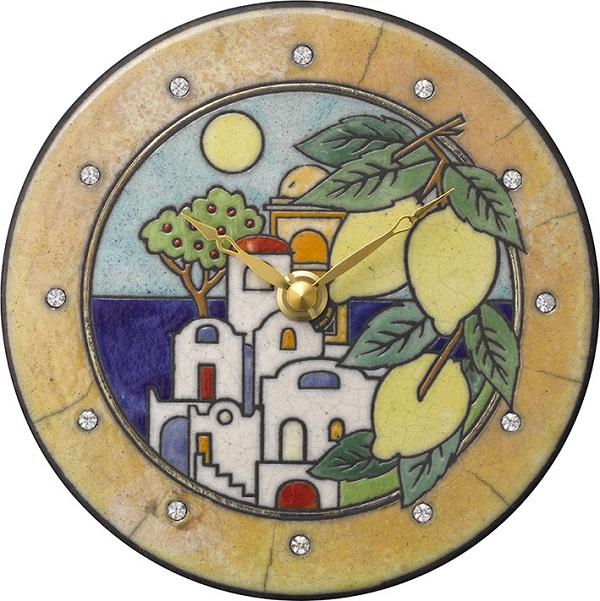 陶器の温かさとイタリアンアートに溢れる魅力! アントニオ・ザッカレラ陶器 置き掛け兼用時計 ZC921-033 名入れ【楽ギフ_のし】【楽ギフ_メッセ入力】
