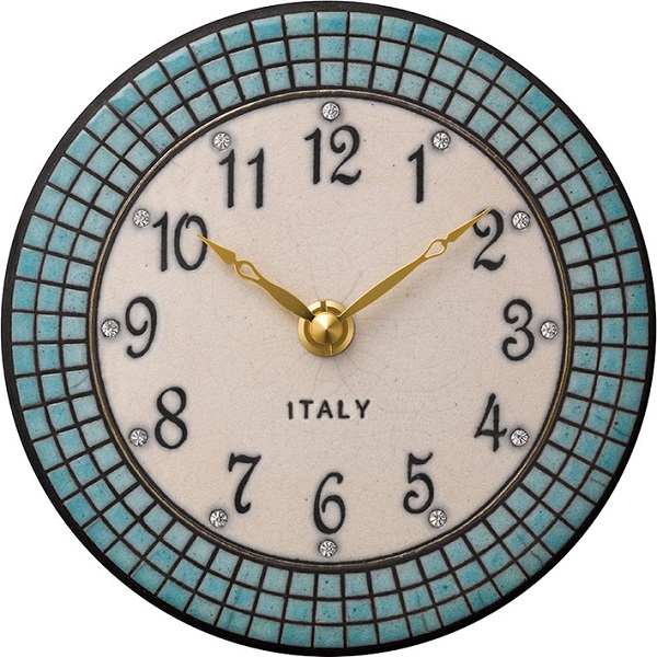 陶器の温かさとイタリアンアートに溢れる魅力! アントニオ・ザッカレラ陶器 置き掛け兼用時計 ZC924-004 名入れ【楽ギフ_のし】【楽ギフ_メッセ入力】